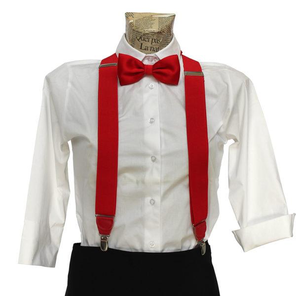 Bretelle rosse per cameriere di sala