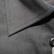 Camicia manica 3/4 nera particolare