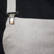 Grembiule clips misto cotone particolare