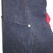 Grembiule jeans regolabile particolare